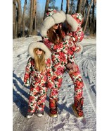 Winter Snow Suit Nylon Ski Damenoverall Anzug Overall Floral One Piece W... - $299.00