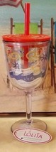 NWT Lolita Acrylic Goblet Tumbler with Lid and Straw Beach Nautical Ocea... - $18.99