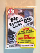1987 Topps Unopened Jumbo Pack - Oil Can Boyd on Front - 31 Cards per pack - $7.00