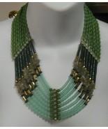 Vintage Lia Sophia Multi-Strand Blue/Green Beaded Necklace  - $35.00