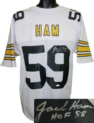 Primary image for Jack Ham signed White TB Custom Stitched Pro Style Football Jersey HOF 88 XL- JS