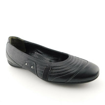 PAUL GREEN Size 8.5 Black Leather Ballet Flats Shoes 6 UK - $79.00