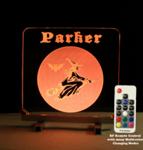 Personalized Halloween Witch Sign - Multi-color changing remote control - $89.10+