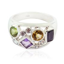 Good Gemstones Fancy Shape Faceted Amethyst rings - Sterling Silver Purp... - $18.99