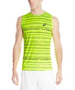ASICS Men's Athlete Sleeveless Top, Graphic Stripe Safety Yellow, XX-Large - $26.72