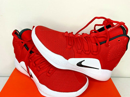 NEW SIZE 7.5 MEN Nike Hyperdunk X TB Red White Basketball Shoes AR0467 600  - $79.19