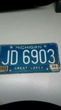 1998 FEB TAGS ORIGINAL MICHIGAN AUTO STATE LICENSE PLATE JD-6903 VINTAGE... - $39.15