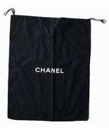 CHANEL large black dustbag dust bag 19 X 15 excellent cover travel storage  - $48.50