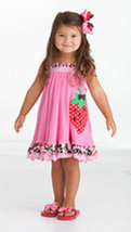 Toddler Girls Strawberry Dress by Peaches and Cream - $48.00