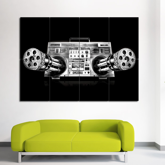 Primary image for Wall Poster Art Giant Picture Print Gatling Music 0037PB