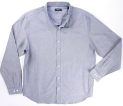 Neu $225 Theory Blau Finch Perpetual Oxford Edward Geknöpftes Hemd Größe XL - $72.76