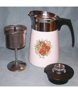 Vintage Corning SPICE OF LIFE Stove Top 6 Cup Coffee Pot / Percolator -P... - $32.95