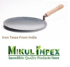 Iron Tawa With Handle For Cooking Roti Chapati Making Utensil Best Quali... - $45.88