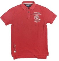 New Polo Ralph Lauren Men Custom Fit Canyon Trail Mesh Polo Red Size S - $62.69
