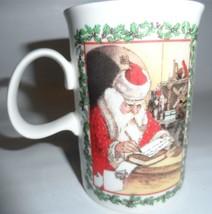 Dunoon Merry Christmas Santa Claus Mug Adapted from Original Prints England - $21.78