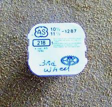 A Schild 10 1/2 L, 11 1/2 L cal 1287 part #218 3rd Wheel Watch Part  - $15.00