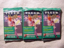 3 new 1999 Fleer ULTRA baseball HOBBY PACK - sealed packs - $7.99