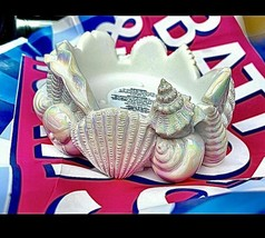 bath body works candle holder 3 Wick Sea Shell Clam Iridescent New Summer 2021 - $29.95