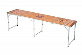 Beer Pong Folding Table Game and Dorm Room Furniture with Adjustable Hei... - $99.05