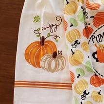 Kitchen Tie Towels, set of 2, Pumpkin Spice design, fall kitchen decor tea towel image 9