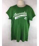 Abercrombie & Fitch Girls Green Short Sleeve Shirt Size XL - $11.87