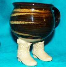 Muddy Waters Ceramica 1985 Vintage Mano Lanciati Stivali da Cowboy Tè Caffè - $43.98