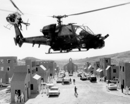 Blue Thunder Aerospatiale Gazelle 341G & Bell Jet Ranger Fly Over Town 16x20 Can - $69.99