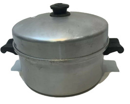 Vintage Saladmaster Aluminum Stock Pot #405 With Vapo Lid Dallas TX Sits... - $59.99