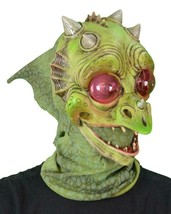 Dragon Mask Baby Green Big Eyes Puff Cute Lizard Head Halloween Costume ... - $83.51 CAD
