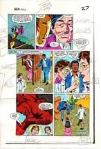 Original 1983 Iron Man 177 Marvel color guide comic book production art page 27 - $99.50