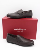 NIB SALVATORE FERRAGAMO Nuevo Brown Leather Penny Loafers Drivers 6 D  $495 - $372.84 CAD