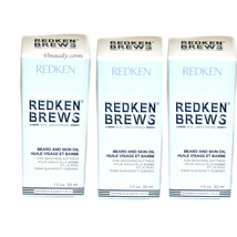 Redken Brews Beard and Skin Oil for Grooming Softness 1 oz (pack of 3) - $49.99