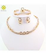 Best Selling African Women Gold Color Necklace Earrings Sets Fashion Cos... - $28.76