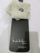 NICOLE MILLER FAUX FUR STOLE WINE BOTTLE COVER RHINESTONES - $18.99