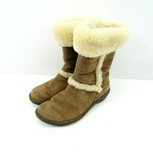 UGG Australia Elijo Boots 5137 Womens Sz 9 Sheepskin Fur Winter Distress... - $39.55