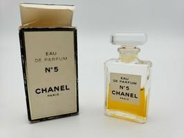 CHANEL NO. 5 Mini Miniature Eau de Parfum 60% Full Perfume .13 Oz w/ Box Vintage image 2