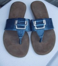 Aerosoles Chlub Women's US 5 Teal Blue Thong Sandal Flip Flops - $34.65