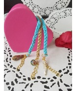 Braided leather stackable bracelets - $12.00