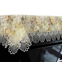 Dustproof Half Upright Piano Cover Piano Dust Cover Lace Dust Cover Piano Cloth
