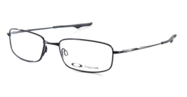 4739775b8dab1 Brand New OAKLEY Titanium Eyeglasses KEEL BLADE OX3125-0153 53-18 Black .