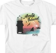 Jaws Amity Island 1975 American thriller Spielberg graphic t-shirt UNI1095 image 2