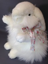 Unipak French Angora Bunny Rabbit Long Haired White Stuffed Animal Plump... - $42.99