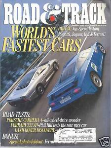 Primary image for Road & Track  Magazine January 1995