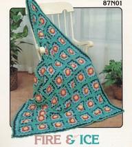 Fire & Ice Afghan, Annie's Attic Crochet Pattern Leaflet 87N01 - $3.95