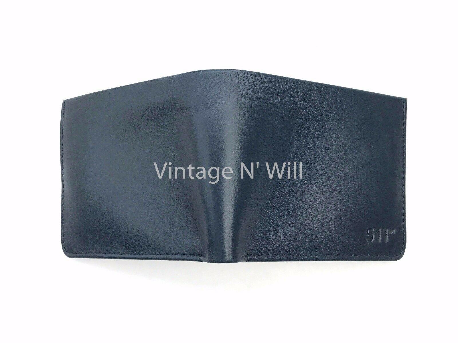 Levis Jeans Mens 511 Slim Navy Blue Genuine Leather Wallet Billfold Bifold Card image 3