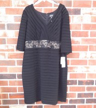 Adrianna Papell Woman new Waisted Lace Dress sz 22 W Black NWT $180.00 - $69.00