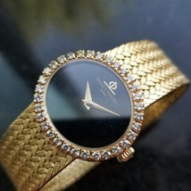 Ladies Baume & Mercier Geneve 18k Gold Diamond Watch 25mm Manual Wind 19... - $6,831.00