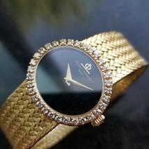 Ladies Baume & Mercier Geneve 18k Gold Diamond Watch 25mm Manual Wind 1980s RAC1 - $6,831.00