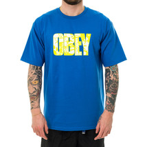 T-SHIRT UOMO OBEY EASY TO LOVE BASIC TEES 163082199.RYL  Blu - $42.19