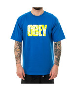 T-SHIRT UOMO OBEY EASY TO LOVE BASIC TEES 163082199.RYL  Blu - $42.19
